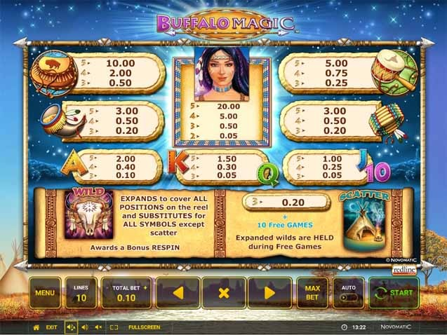 Buffalo Magic Slot Bonus