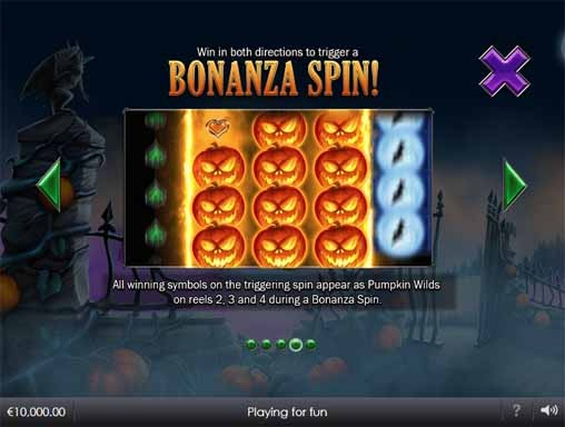 Pumpkin Bonanza Slot Bonus