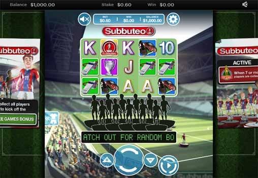 Subbuteo Slot Game Reels