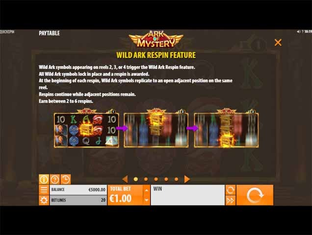 Ark of Mystery Slot Bonus