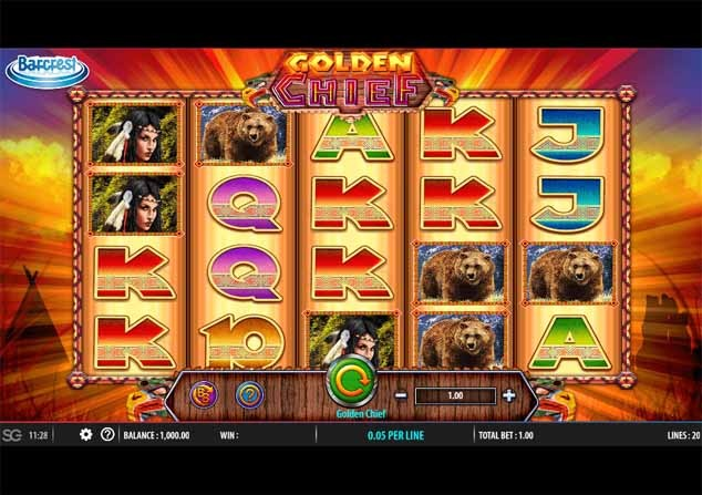 Golden Chief Slot Game Reels
