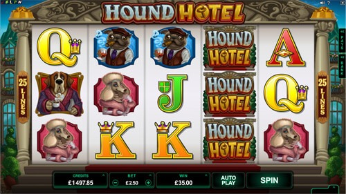Hound Hotel Slot Game Reels