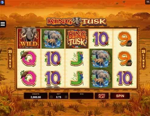 King Tusk Slot Game Reels