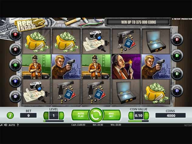 Reel Steal Slot Game Reels