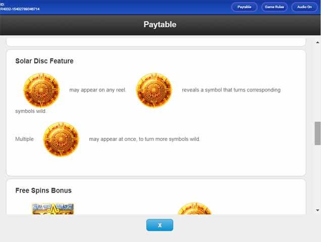 Solar Disc Slot Bonus