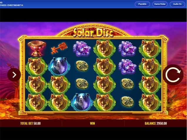 Solar Disc Slot Game Reels