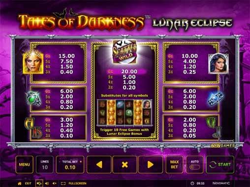 Tales of Darkness: Lunar Eclipse Slot Bonus