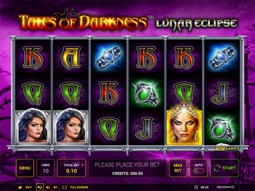 Tales of Darkness: Lunar Eclipse Slot Game Reels