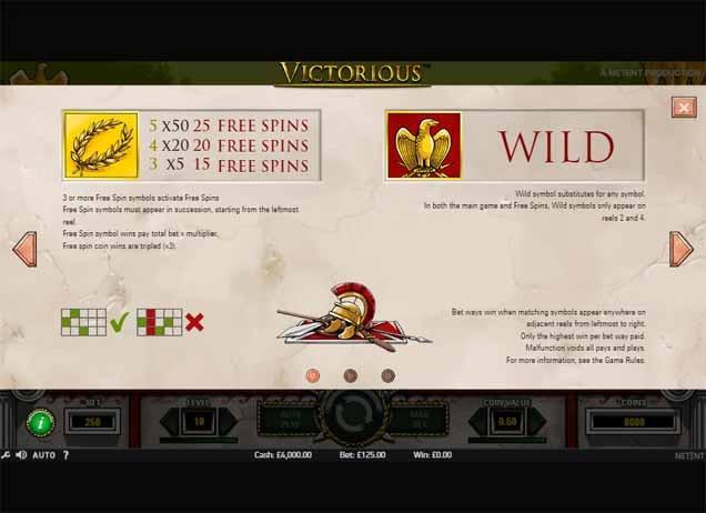 Victorious Slot Bonus