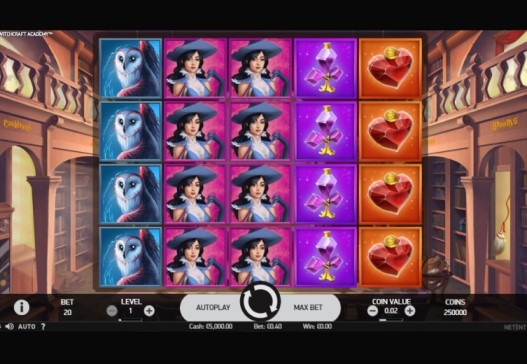 Witchcraft Academy Slot Game Reels