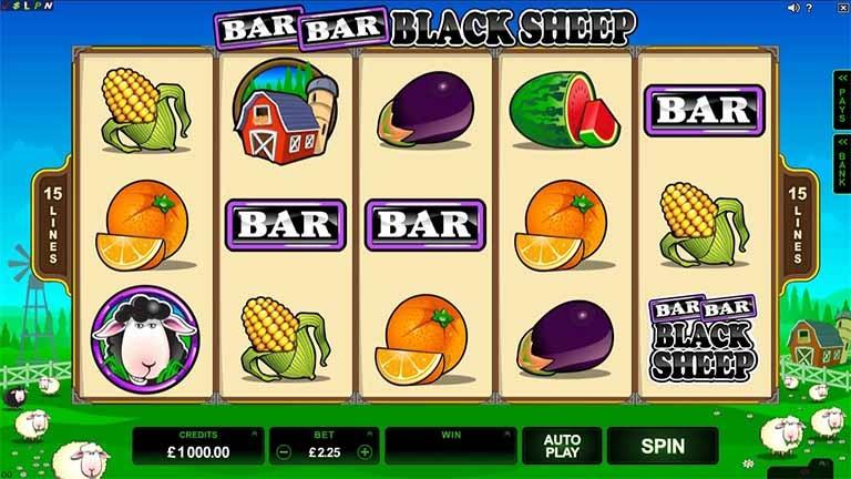 Bar Bar Black Sheep Slot Game Reels