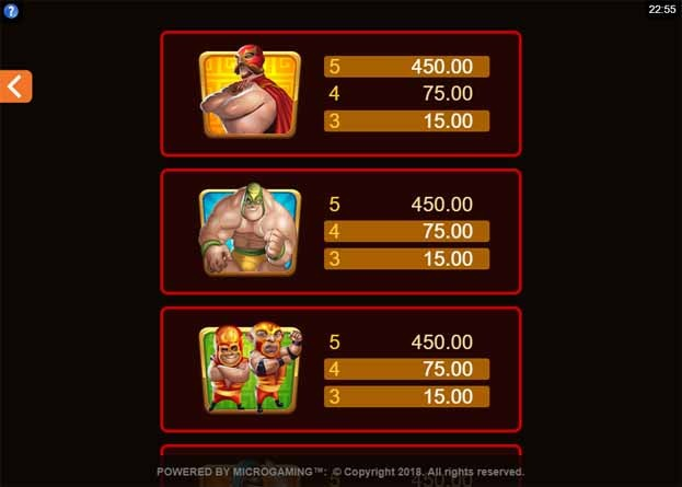 Lucha Legends Slot Bonus