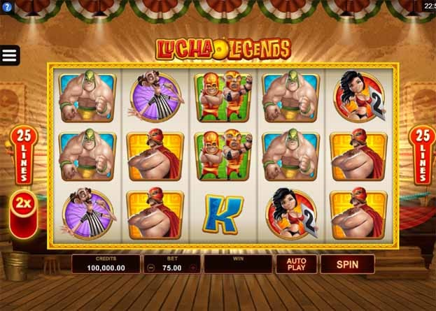 Lucha Legends Slot Game Reels