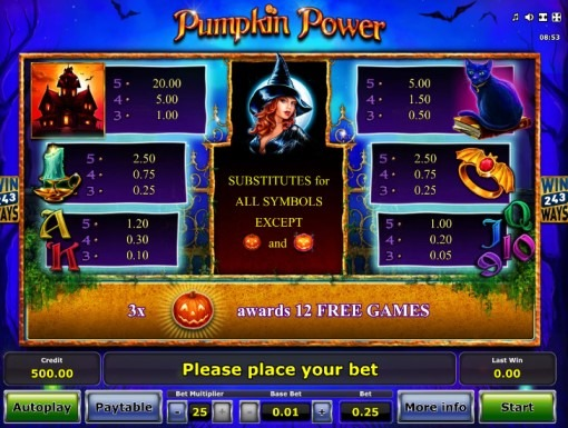 Pumpkin Power Slot Bonus