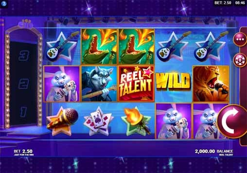 Reel Talent Slot Game Reels