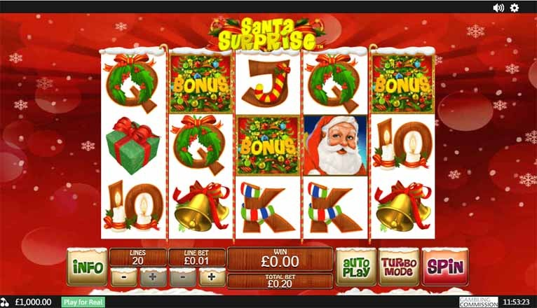 Santa Surprise Slot Game Reels