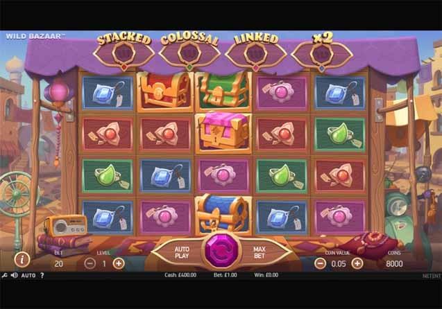 Wild Bazaar Slot Game Reels