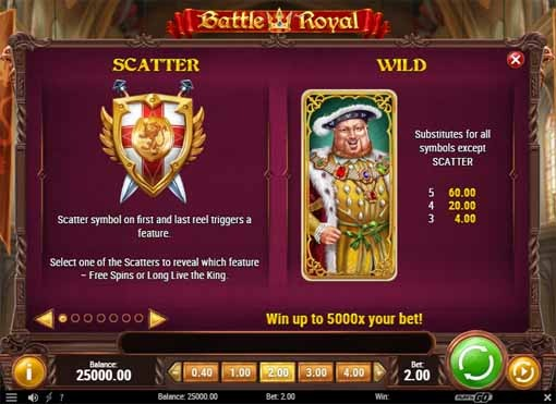 Battle Royal Slot Bonus
