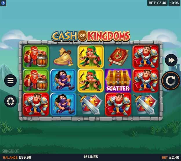 Cash of Kingdoms Slot Game Reels