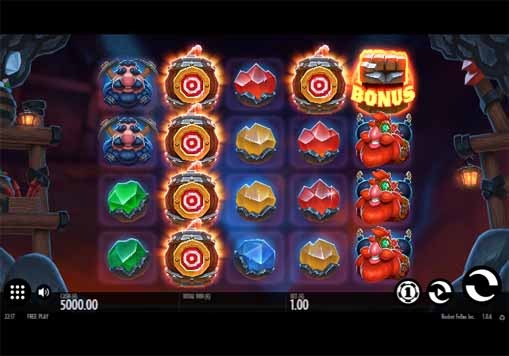 Rocket Fellas Inc Slot Game Reels