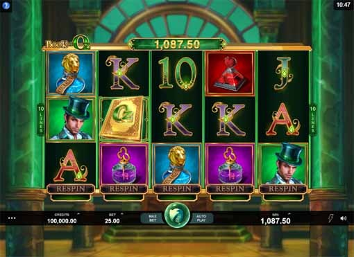 Book of Oz Slot Game Reels