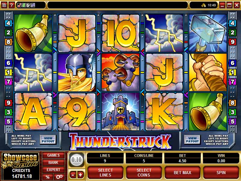 Thunderstruck Slot Game Reels