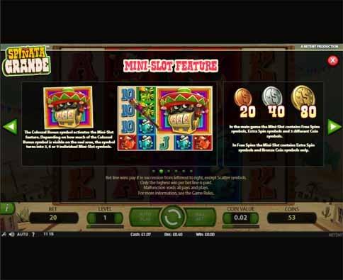 Spiñata Grande Slot Bonus