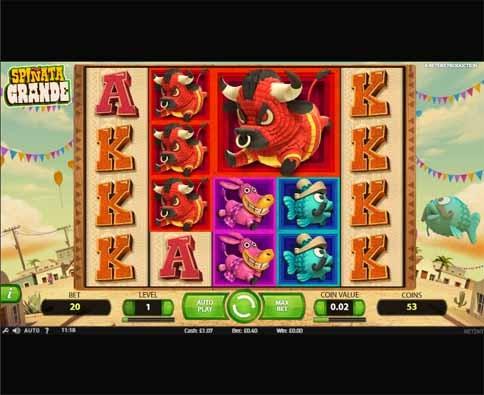 Spiñata Grande Slot Game Reels