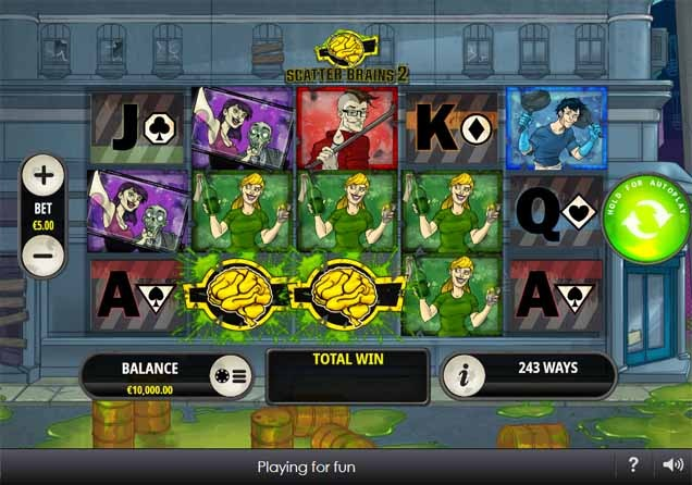 Scatter Brains 2 Slot Game Reels