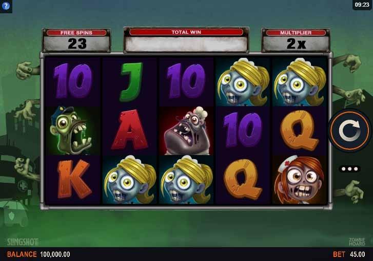 Zombie Hoard Slot Game Reels