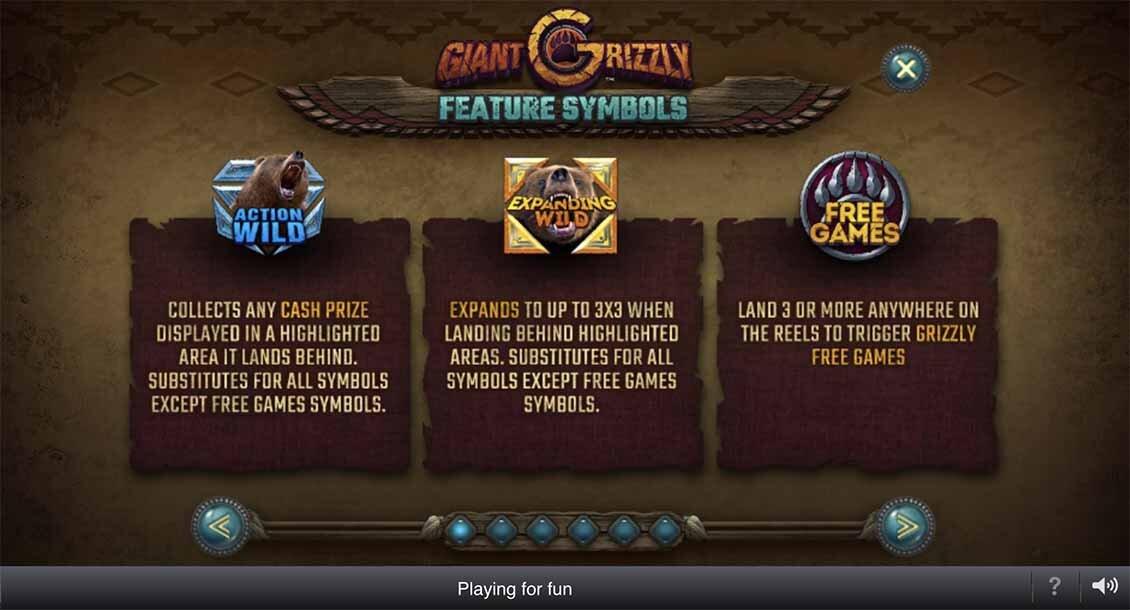 Giant Grizzly slot bonus