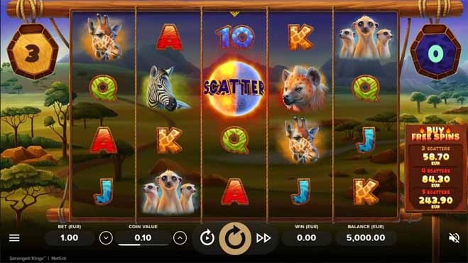 Serengeti Kings Slot Reels