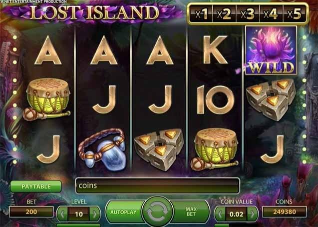 Lost Island Slot Reels