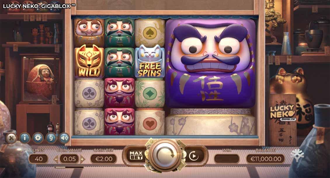Lucky Neko Gigablox Slot Reels