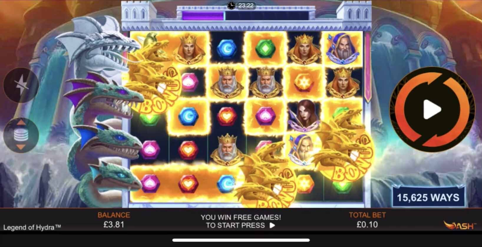 Legend of Hydra slot Bonus