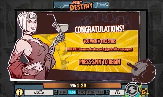 Agent Destiny Slot Bonus
