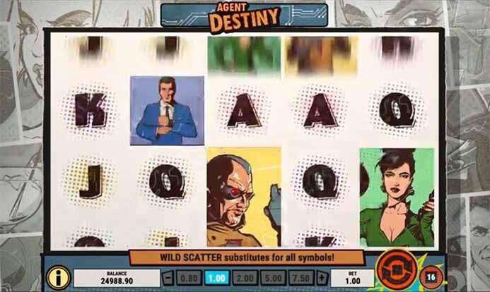 Agent Destiny Slot Reels