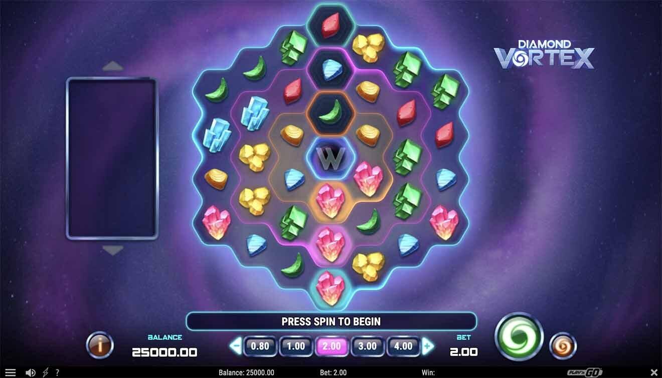 Diamond Vortex Slot Reels