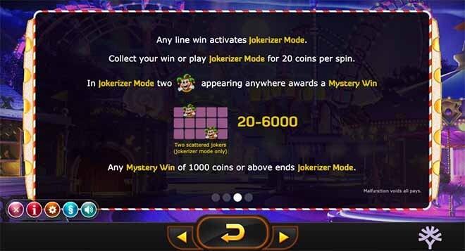 Jokerizer Slot Bonus