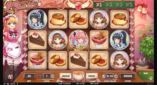 Magic Maid Cafe Slot Reels