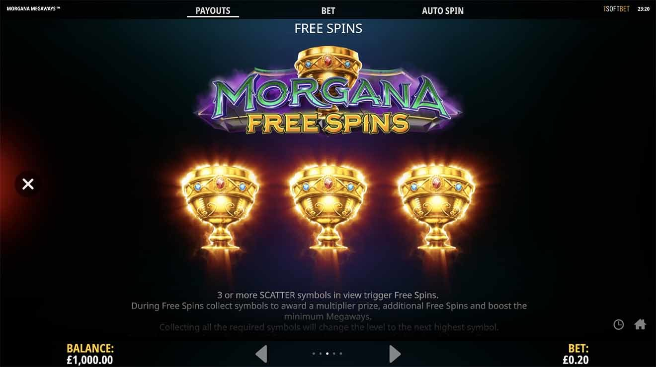 Morgana Megaways Slot Bonus