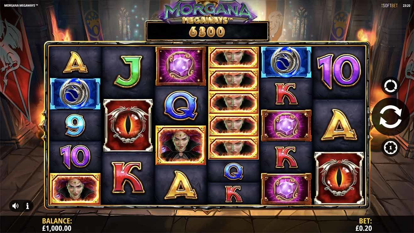 Morgana Megaways Slot reels