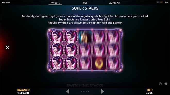 Night Queen Slot Bonus