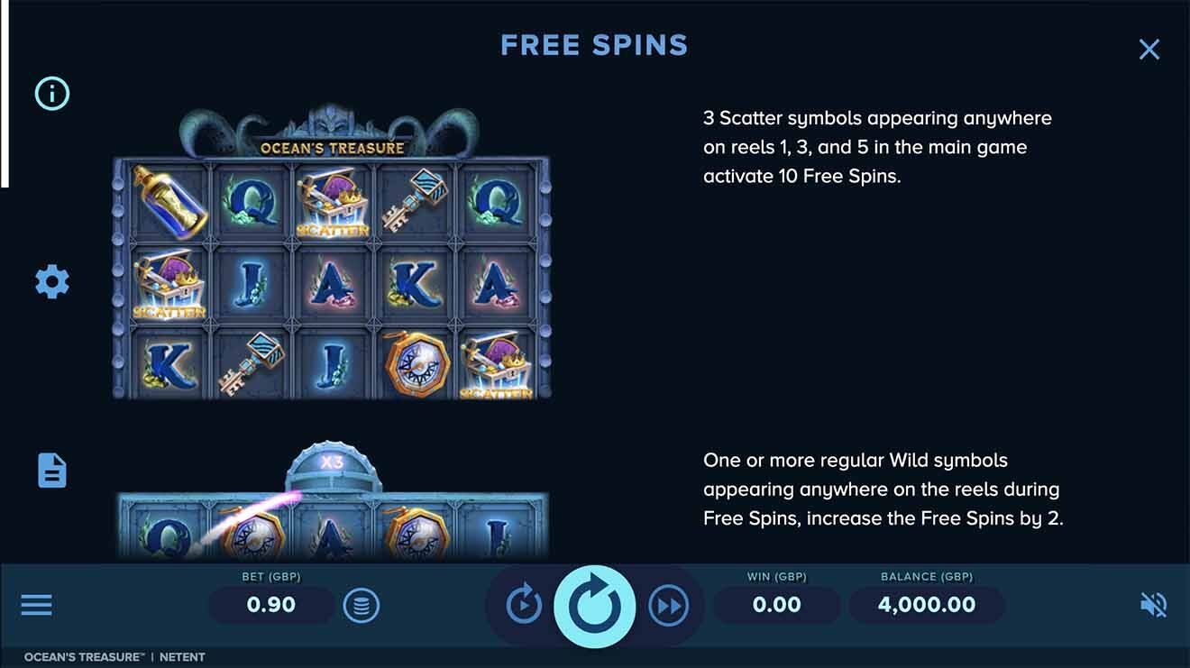 Ocean's Treasure Slot Bonus