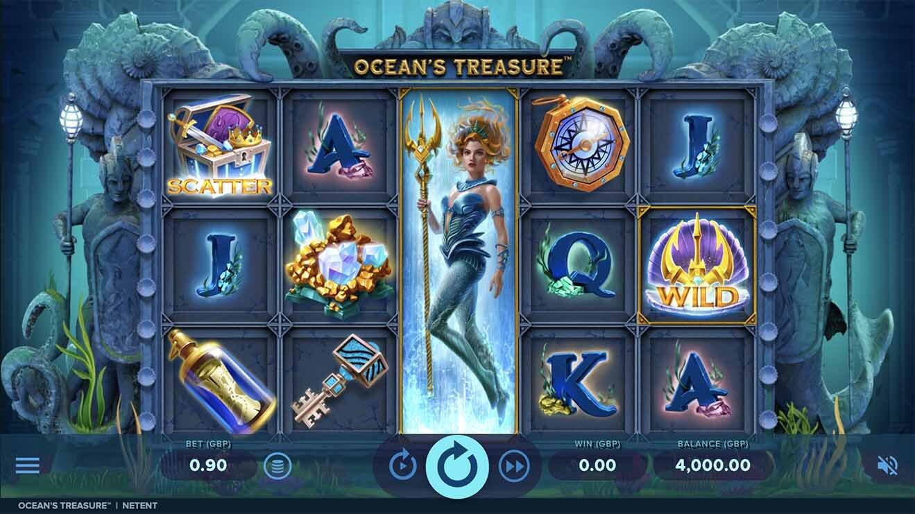 Ocean's Treasure Slot Reels
