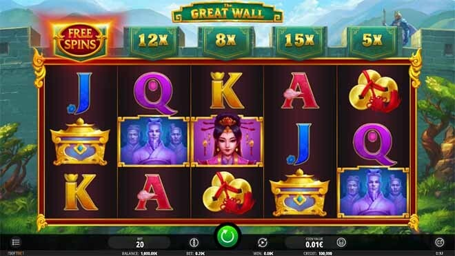 The Great Wall Slot Reels