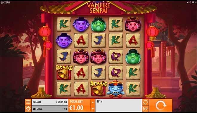 Vampire Senpai Slot Reels