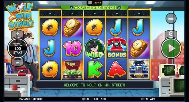 Wolf on Win Street Slot Reels